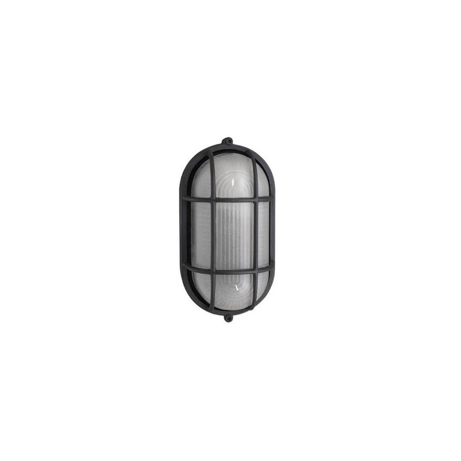Aplique Exterior Oval Tortuga Blanc 1xe27 (11x20)