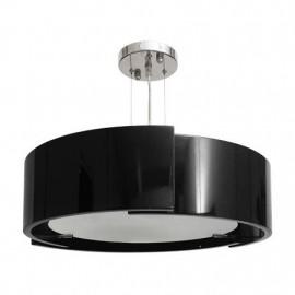 Colgante Oslo Cromo/negro 3xe27 D. 37 Cm
