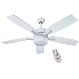 Ventilador blanco ADRA blanco, con luz