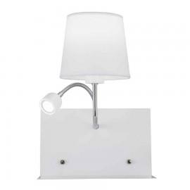 Ventilador de techo eolo niquel plata/haya led
