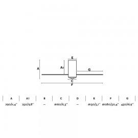 Flexo Antigona Articulable 1xe27 Negro/cro 34-67x15x15