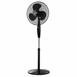 Ventilador De Pie Inverna Negro 40w 3 Vel. C/remot Temporizador 43d Oscilante