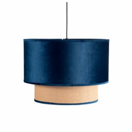 Colgante 2 Pantalla Nerva 1xe27 Azul Regx40x40 Cm
