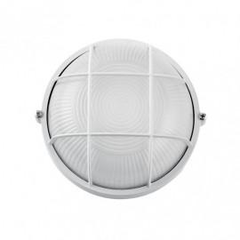 Aplique Ext. Aluminio Apus Pequeño 1xe27 Blanco  9x17,5x17,5 Cm  Ip44
