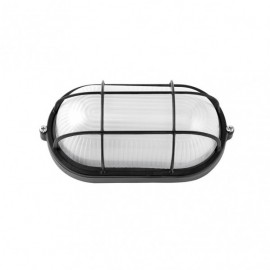 Aplique Ext. Oval Aluminio Apus Peq. 1xe27  Negro  9x21x10,5 Cm Ip44