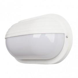 Aplique Ext.oval Canopus Peq.1xe27 Policar.blanco  10x26x15 Cm Ip44