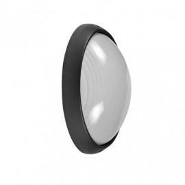 Aplique Ext. Aluminio Vega Peq.1xe27 Negro  10x22x14 Cm Ip44