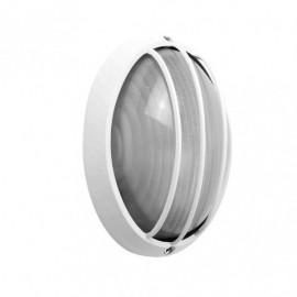 Aplique Ext.oval Aluminio Aquila Peq.1xe27 Blanco  10,5x22x14 Cm Ip44