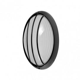 Aplique Ext.oval Aluminio Aquila Peq.1xe27 Negro  10,5x22x14 Cm Ip44