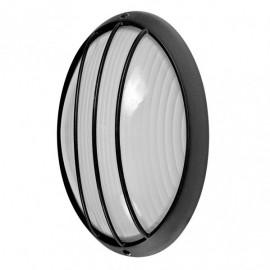 Aplique Ext.oval Aluminio Aquila Grand 1xe27 Neg 11x32x20,5 Cm Ip44