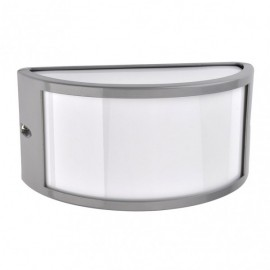 Aplique Exterior Aluminio Ara 1xe27 Gris Ip44 13x25x12 Cm
