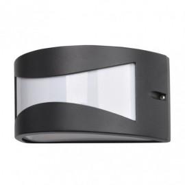 Aplique Exterior Aluminio Hadar 1xe27 Negro Ip44 13x25x12 Cm