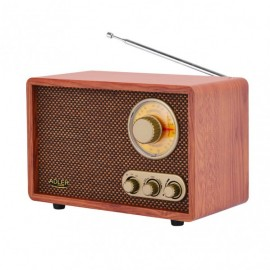 Radio Retro C/bluetooth Am/fm Ajuste Graves/agudos Conex. Inalambrica Telefono Tablet O Pc