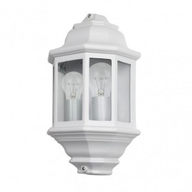 Aplique Exterior Aluminio Shaula 2xe27 Blanco Ip44 38,5x22x12,5 Cm