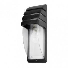 Aplique Exterior Aluminio Elnath 1xe27 Negro Ip44  35x12x12 Cm