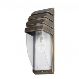 Aplique Exterior Aluminio Elnath 1xe27 Neg/oro  35x12x12 Cm Ip44