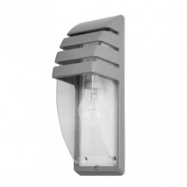 Aplique Exterior Aluminio Elnath 1xe27 Gris Ip44  35x12x12 Cm