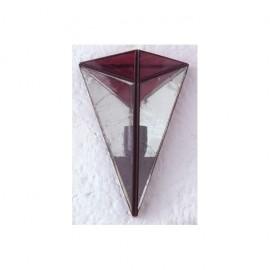Aplique Piramide Violeta 1xe27 28x20