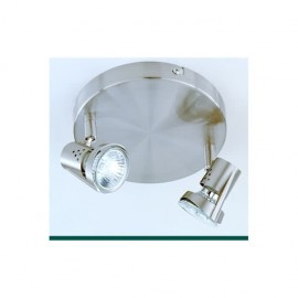 Plafon Foco De 2l. Gu10 50w (12x17) Cuero