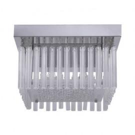 Plafon Kiev Cromo/cristal Led Smd 18w 1530lm 4000k 17x30x30