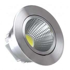 Empotrable Niquel Serie  Wolf Led 7w 630lm 4000k  4,5x8,5x8,5