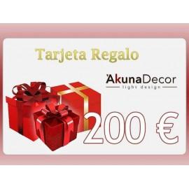 TARJETA REGALO 200€.