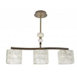 Ventilador de techo OSIRIS niquel wengue/cerezo con luz y mando a distancia.