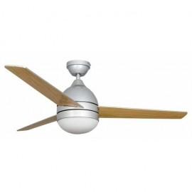 Ventilador Plata Alisio 3 Aspas Plata/haya 2xe2746x 112d Control Remoto