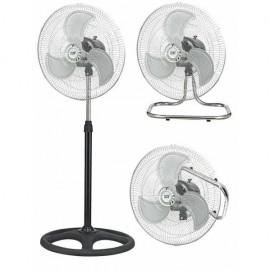 Ventilador Industrial Maestro 3 En 1 80w 3aspas 3 Velocidades  Cromo/negro 130x46d