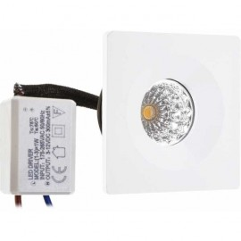 Lampara ventilador 105cm. Incluye LED y control remoto, color blanco.