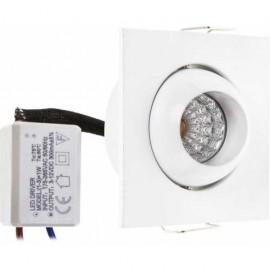 Ventilador de techo moderno 132cm. LED y control remoto. Color blanco.