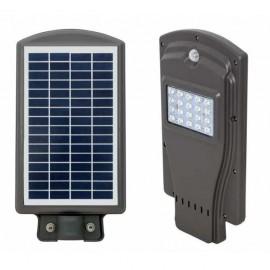 Farola Solar 20w 6000k Street Gris  39,5x20,5x5,5  450lm Ip65