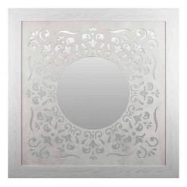 Espejo redondo  enmarcado modelo VECTOR blanco