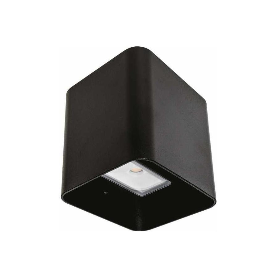 Aplique Exterior 8w 4000k Soure Negro Ip54