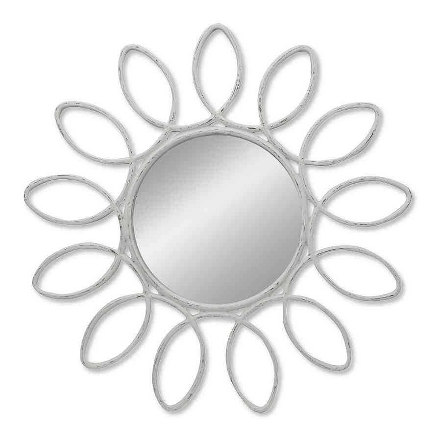 Venta online de espejo redondo modelo DALI blanco