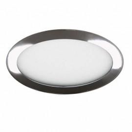 Lampara circular Cromo-cristal facetado 3+3