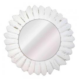 Espejo blanco redondo modelo SOROLLA
