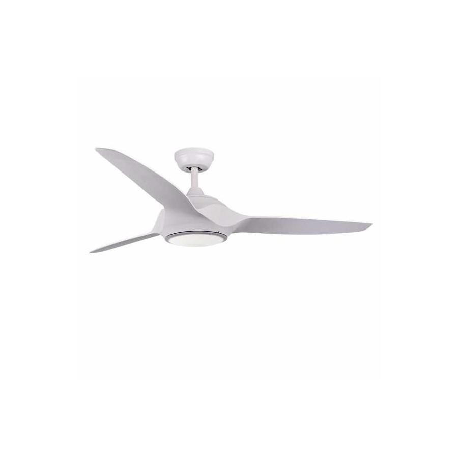 Ventilador Narai 18w 4500k Blanco 3 Aspas Blancas 1600lm 42x132d C/ Remoto Incluido
