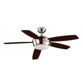 Gran ventilador de techo modelo SAMAL 132cm niquel 5 aspas. Mando a distancia incluido.