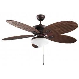 KIT DE LUZ para ventilador de techo modelo PHUKET acabado marron