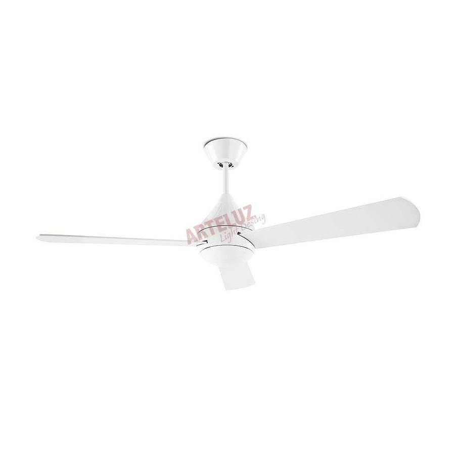 Ventilador de techo blanco 106cm sin luz modelo TUPAI motor DC.control remoto incluido.