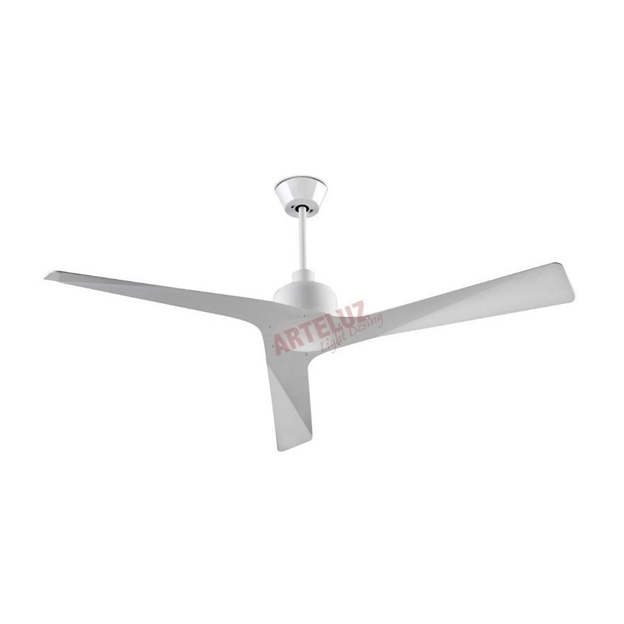 Ventilador de techo blanco 132cm sin luz modelo MOGAN, mando a distancia incluido.