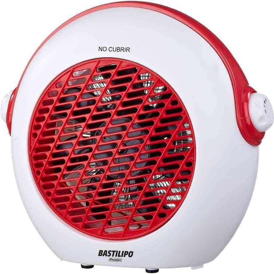 Promocion termoventilador blanco-rojo de Bastilipo