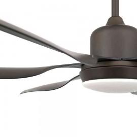 Ventilador de techo modelo Tilos con luz, motor DC de faro