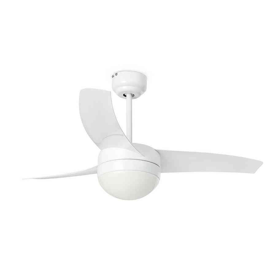 Ventilador de techo Easy blanco con luz y mando a distancia de Faro