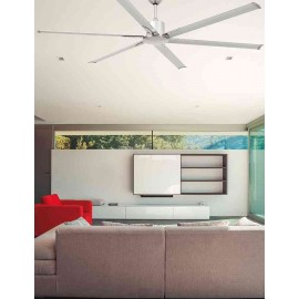 Ventilador de techo Andros niquel, sin luz, motor DC de Faro