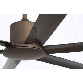 Ventilador de techo Andros marron, motor DC sin luz de Faro