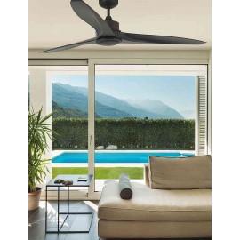 Ventilador de techo 106cm clasico modelo BORNEO MARRON , 3 velocidades y mando a distancia incluido.
