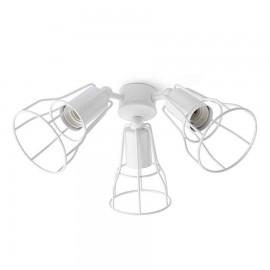 Kit de luz ventilador Yakarta acabado blanco de Faro
