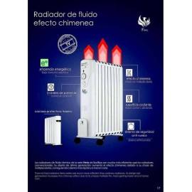 Radiador efecto chimenea Bastilipo 7 elementos